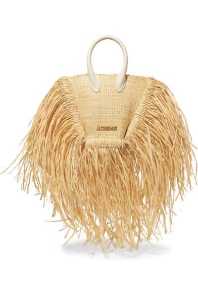 Jacquemus Le Petite Baci Woven Straw Bag