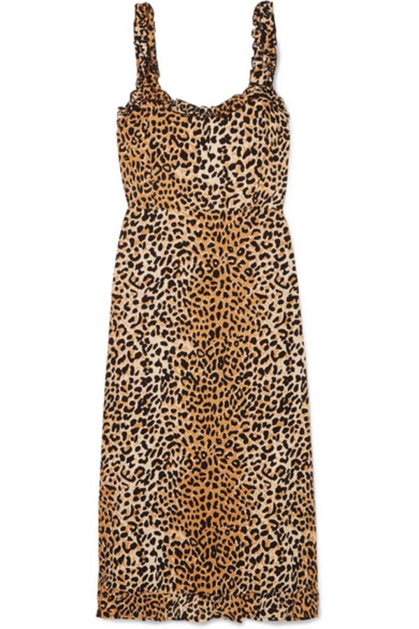 Faithfull The Brand Noemie leopard print midi 2