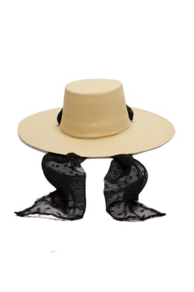Sensi Studio Cordovez Swiss-dot tulle hat