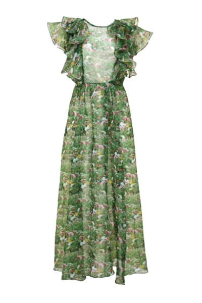 Romance Was Born Lacy Garden Maxi Dress 2