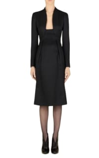 Gucci Houndstooth Open-Neck Dress Preview Images