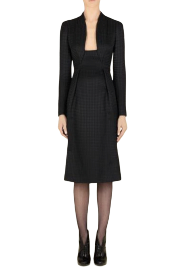 Gucci Houndstooth Open-Neck Dress 0 Preview Images