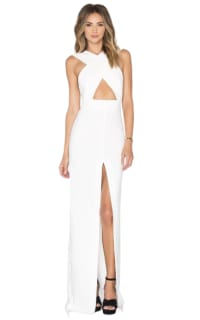Solace London Solace London white cross over strap dress Preview Images