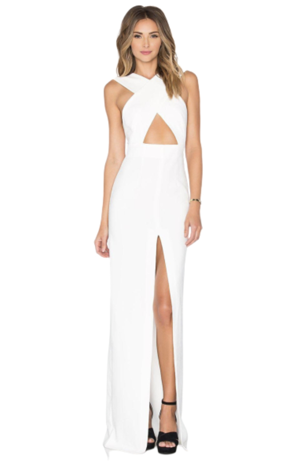 Solace London Solace London white cross over strap dress