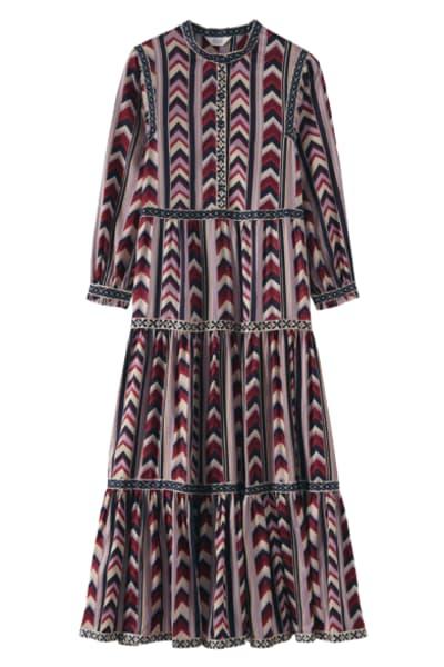 Toast Chevron Striped dress