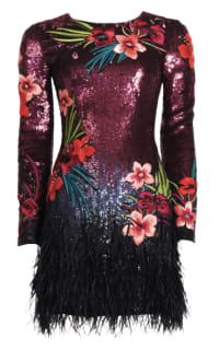 Matthew Williamson Sequin feather dress Preview Images