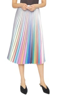Amuse Society  Amuse Rainbow Pleated Skirt Preview Images