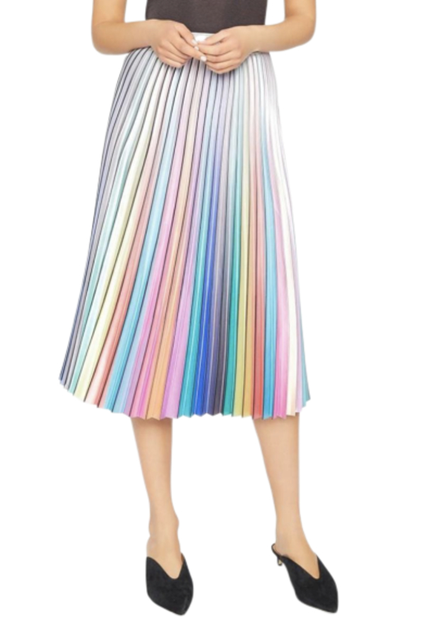 Amuse Society  Amuse Rainbow Pleated Skirt