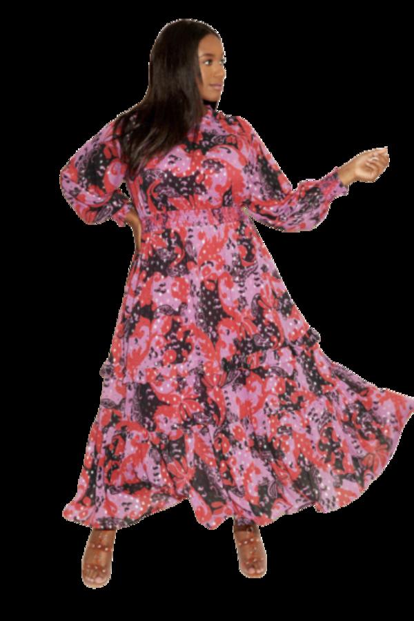 Anna Scholz Pink Polka Boho Dress 0 Preview Images