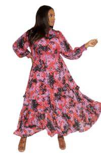 Anna Scholz Pink Polka Boho Dress Preview Images