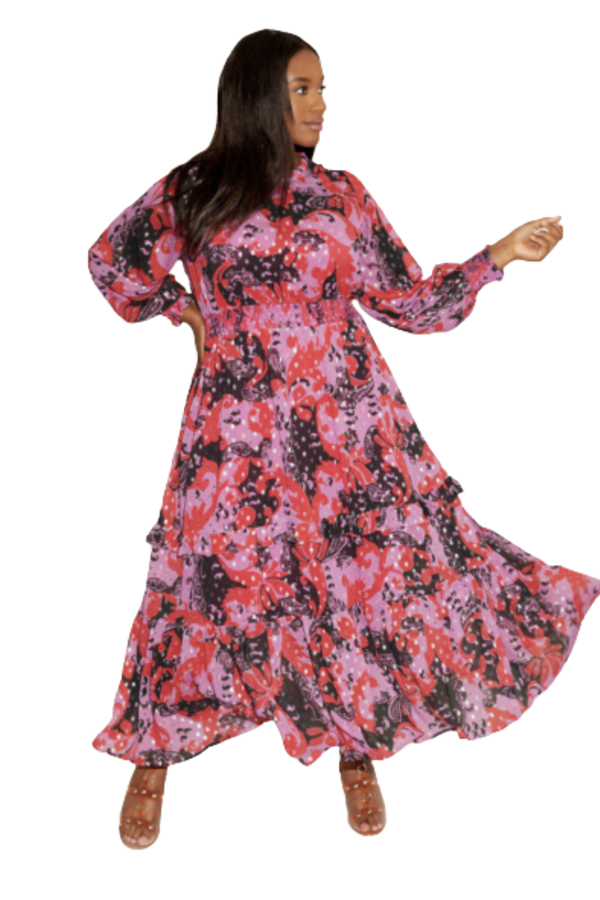 Anna Scholz Pink Polka Boho Dress