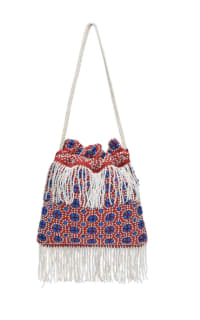 Staud Lance beaded fringed bag Preview Images