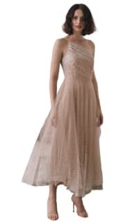 Sau Lee Blanche Ombre Tulle Midi Dress Preview Images
