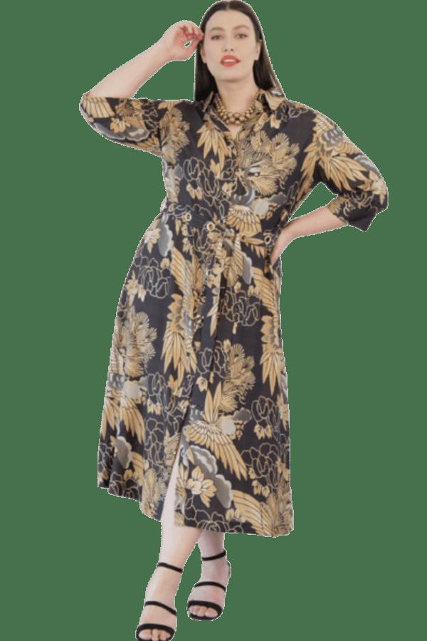 Image 1 of Anna Scholz silk shirt dress