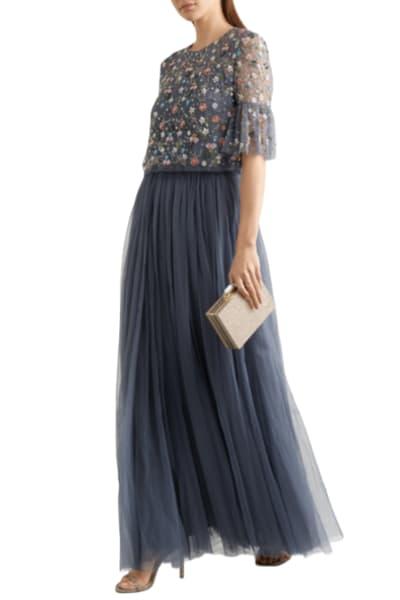 Needle & Thread Starburst tulle top and skirt
