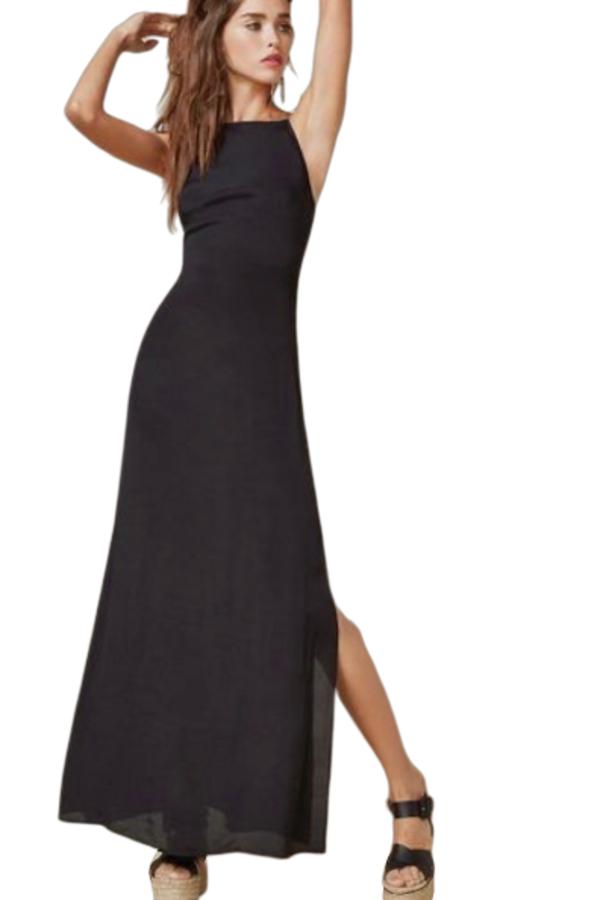 Reformation Black Strappy Dress