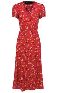 Realisation Par Red floral midi dress Preview Images