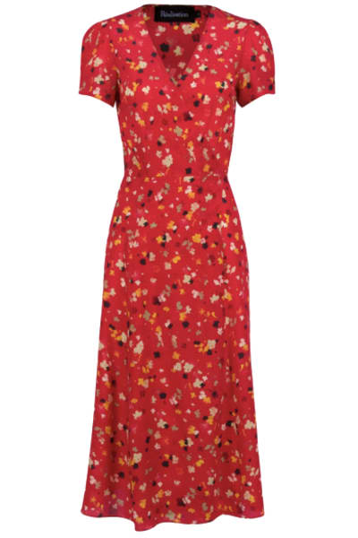 Realisation Par Red floral midi dress