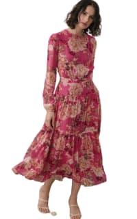 Sau Lee Faith Silk Chiffon Dress Preview Images