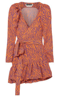 Rotate Birger Christensen Zebra Print Twill Dress Preview Images