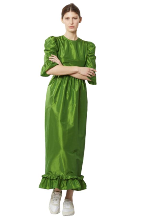 Batsheva Emerald Green Maxi Dress 2