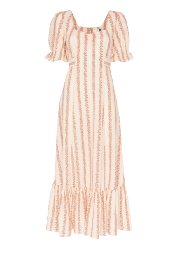 RIXO London Kate Flora Stripe  3