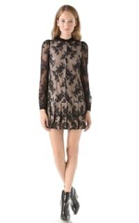 Alexander McQueen Drop Waist Pleat Dress Preview Images