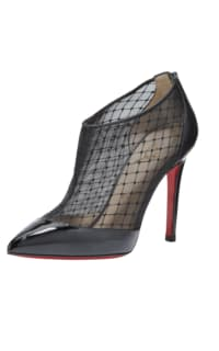 Christian Louboutin Filette patent-fishnet bootie Preview Images