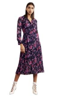 Kitri Gabriella Purple Pleated Shirt Dress Preview Images