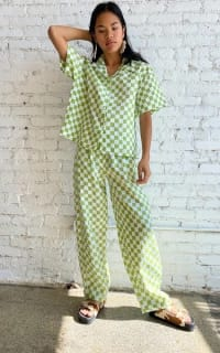 Holiday The Label Checkered Pyjama Olive set 3 Preview Images