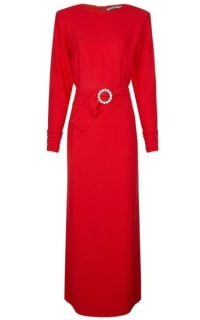 Alessandra Rich Long Red Dress Preview Images
