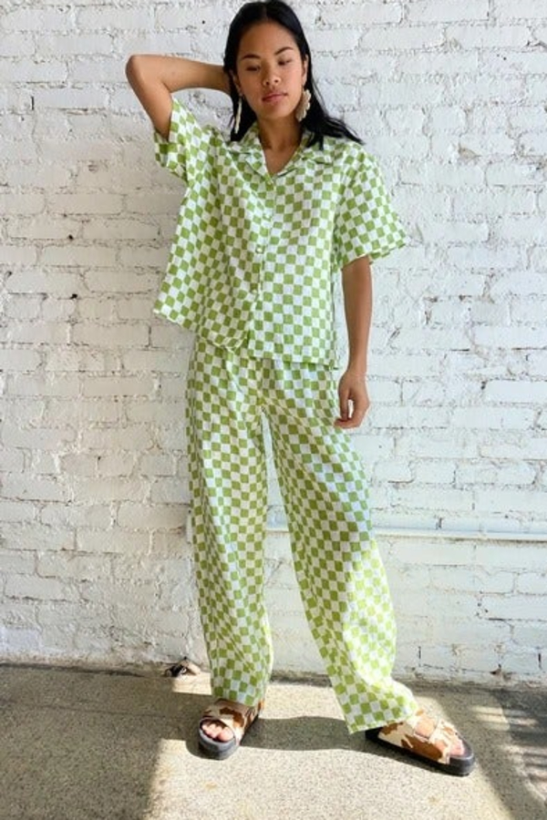 Holiday The Label Checkered Pyjama Olive set 3