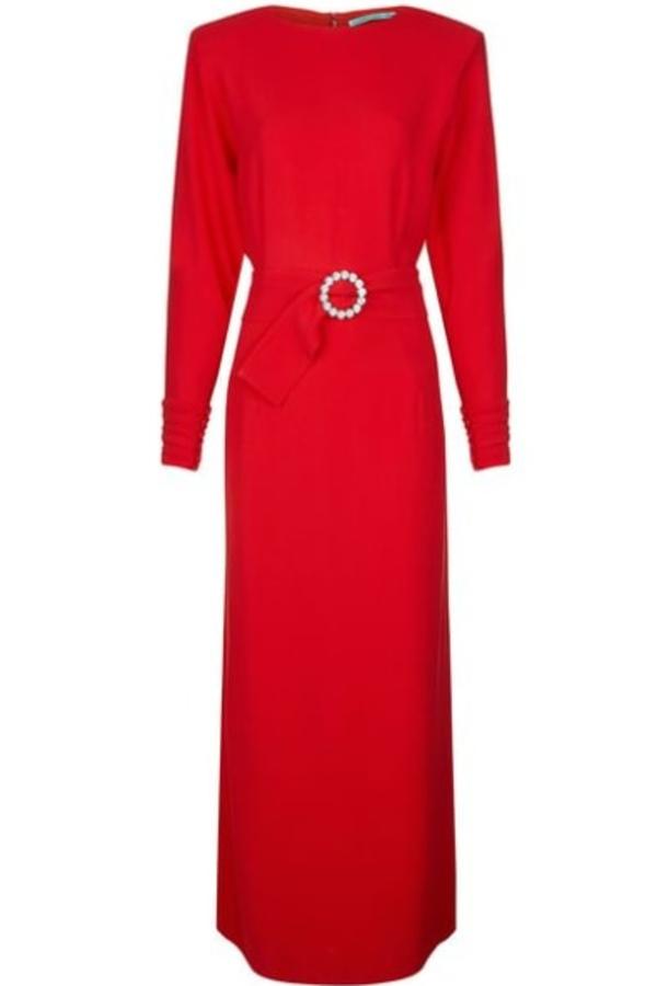 Alessandra Rich Long Red Dress