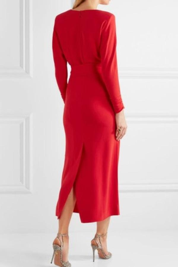 Alessandra Rich Long Red Dress 3
