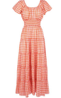 Pink City Prints Gingham Rah Rah Dress Preview Images