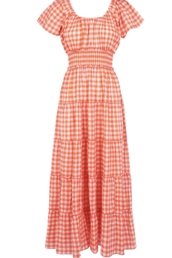 Pink City Prints Gingham Rah Rah Dress