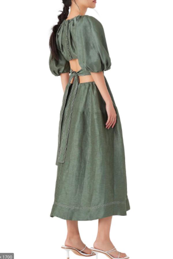 Aje Mimosa Cut-Out Midi dress 2