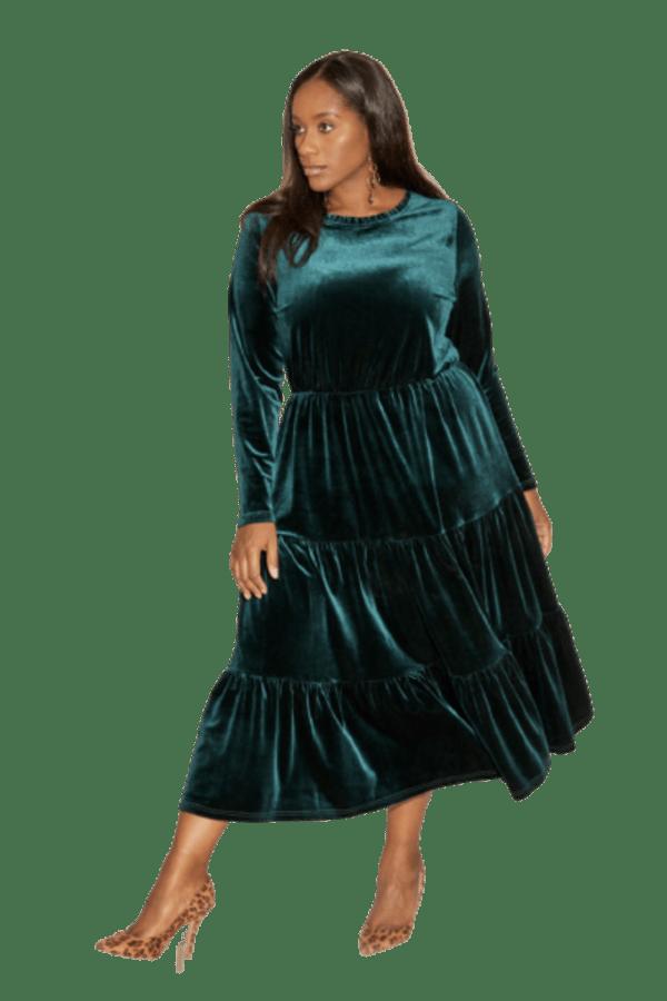 Anna Scholz Velvet Boho Dress 0 Preview Images
