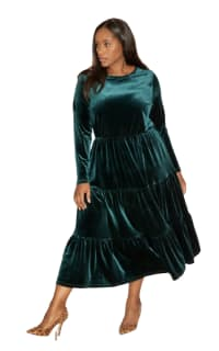 Anna Scholz Velvet Boho Dress Preview Images