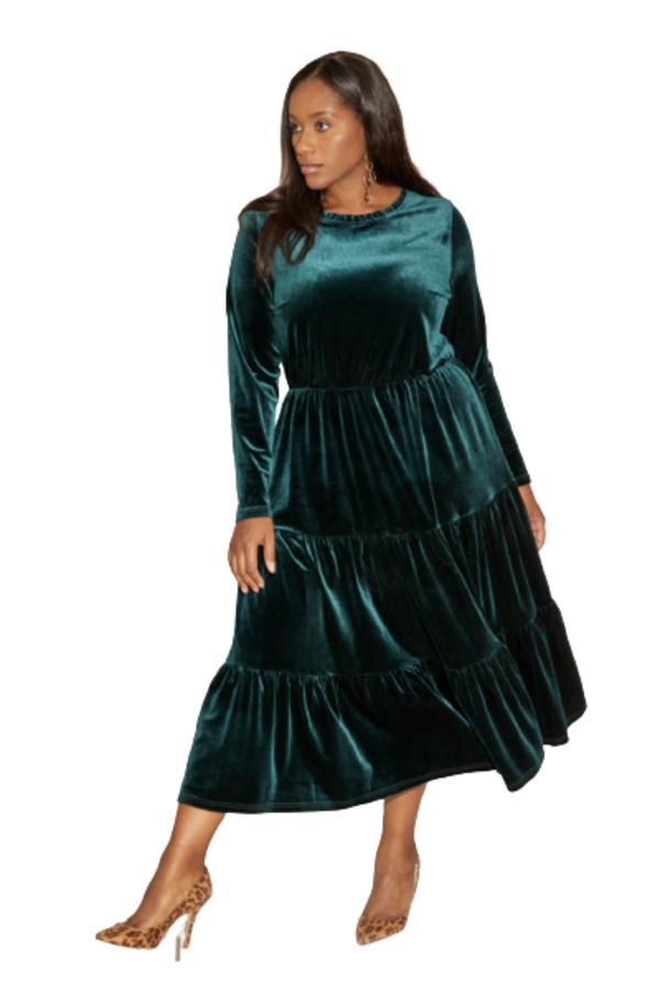 Anna Scholz Velvet Boho Dress