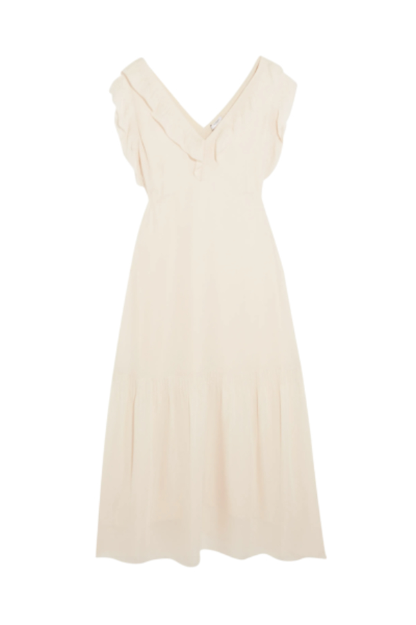 Vilshenko Valencia Silk Midi Dress