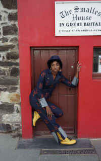 Olivia Annabelle Defoe Embroidered Denim Suit 2 Preview Images