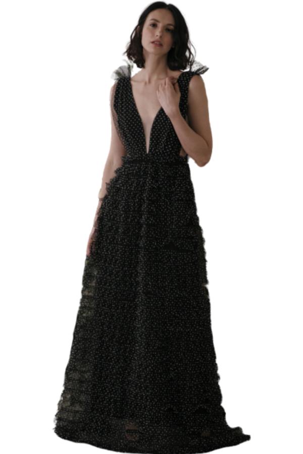 Sau Lee Catherine Polka Ruffle Gown 2