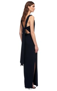 Whistles Tie Back Maxi Dress Preview Images