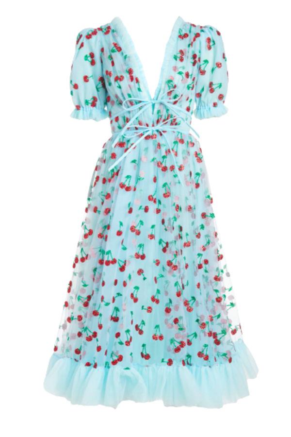 Lirika Matoshi Cherry Midi Dress 0 Preview Images