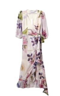 Ganni Wrap floral dress Preview Images