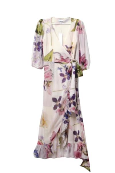 Ganni Wrap floral dress