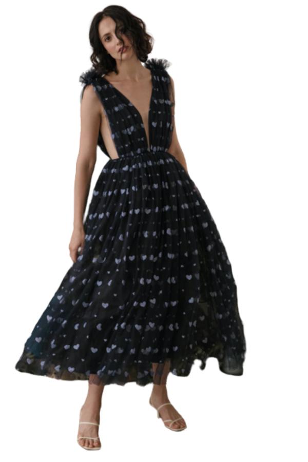 Sau Lee Heather Heart Tulle Dress 2