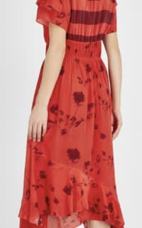 Preen by Thornton Bregazzi Esther printed satin dress Preview Images