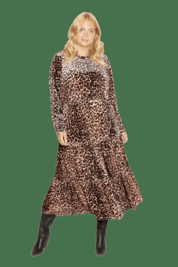 Anna Scholz Leopard Velvet Boho Dress 0 Preview Images